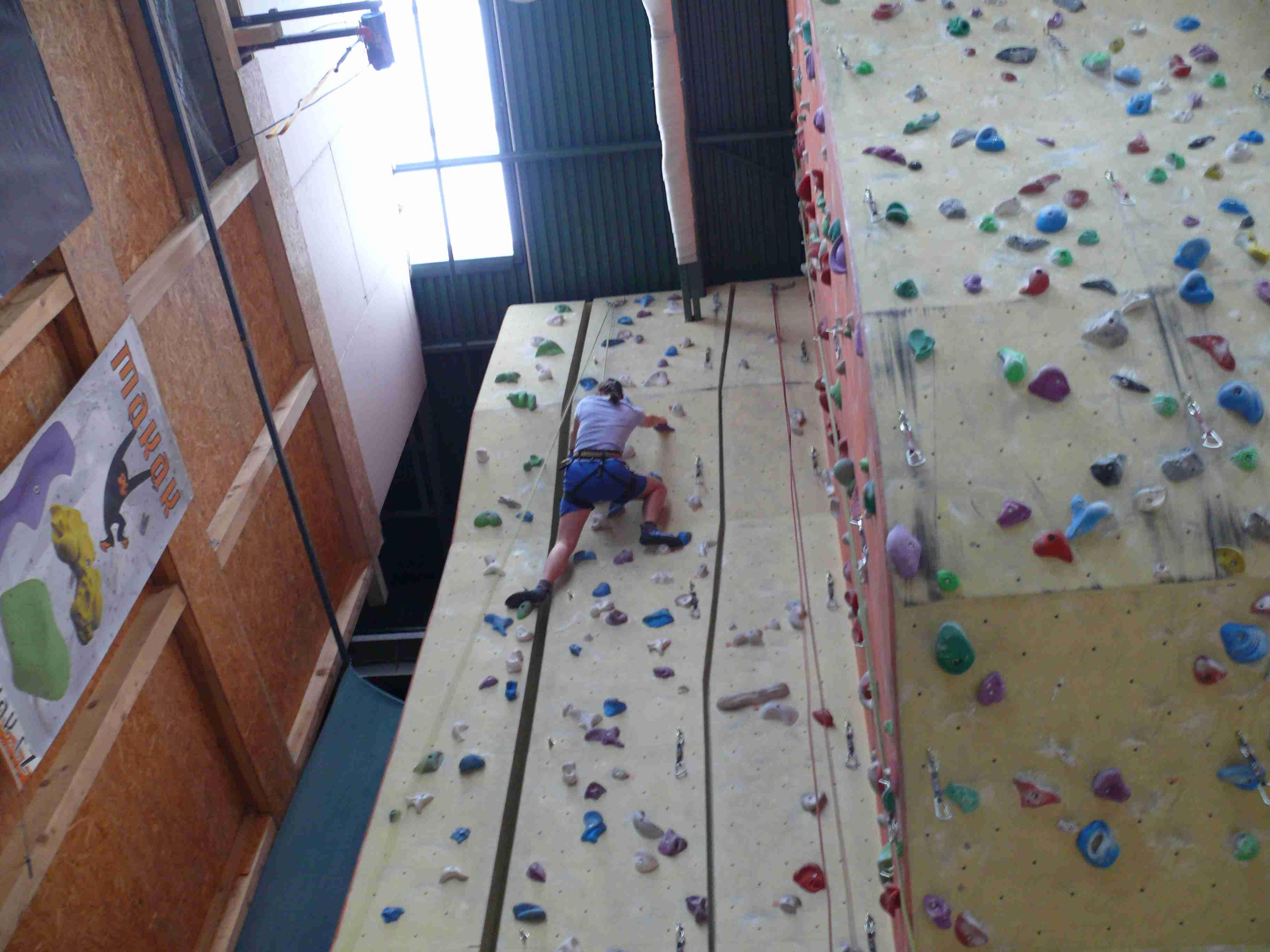 má maličkost na lezecké stěně