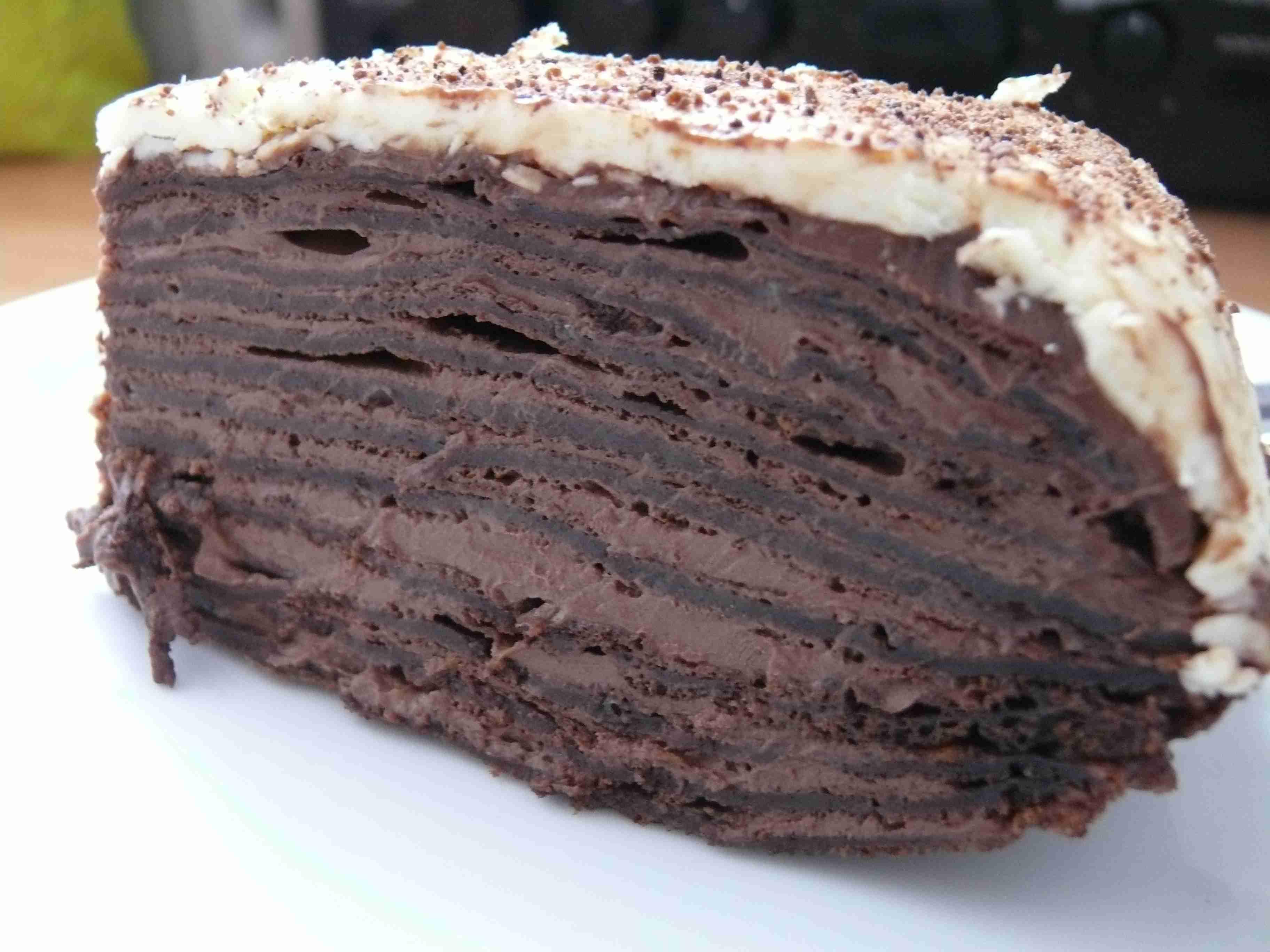 palačinkový čokoládový dort