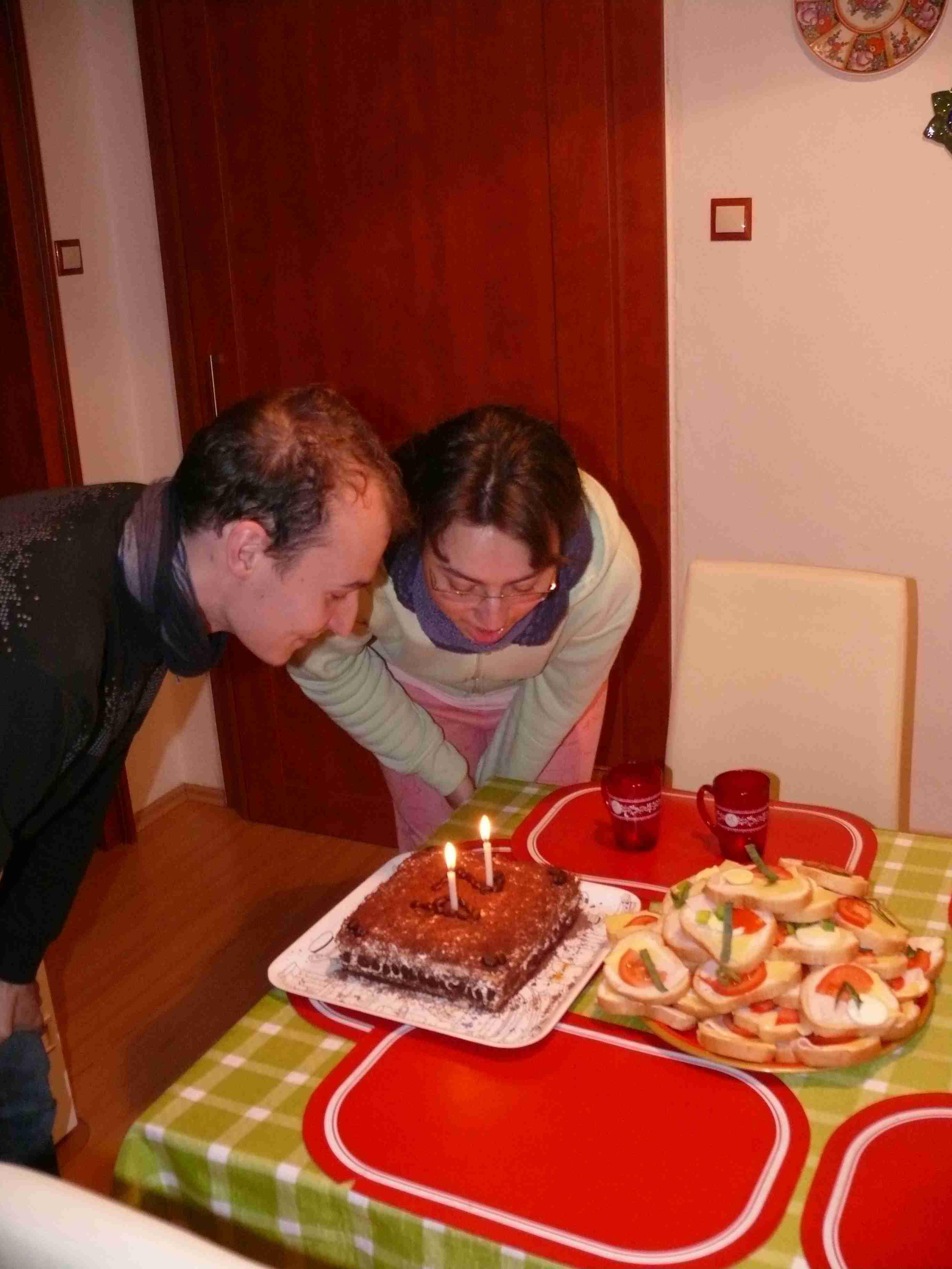 slavení u dortu